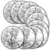 Ten 1-oz 2014 Silver American Eagles Coin $250