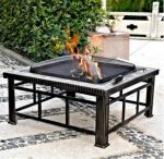 "Hudson 30"" Square Slate Fire Pit Table"