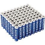 72-Pack of Sony Stamina Plus Alkaline AA or AAA Batteries $16