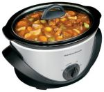 Hamilton Beach 4 qt. Stainless Steel Oval Slow Cooker $10 (SYWR Members)