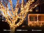 String of 200 Solar-Powered LiteUp LED Lights $26