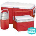 Coleman 48-Quart Cooler with 5-Quart Cooler, 1/3-Gallon Jug $15