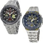 Citizen Skyhawk A-T Stainless Steel Chronograph Atomic Mens Watch (Blue and Black) $280