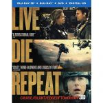 Live Die Repeat: Edge of Tomorrow Blu-Ray Combo Pack (Blu-Ray 3D/DVD/Digital HD) $10