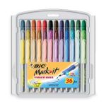 BIC Mark-It color collection permanent marker, Fine Point, Assorted Colors, 36 Markers $8.78