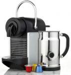 Nespresso Pixie Espresso Maker & Aeroccino Milk Frother + $100 Coffee Credit $200