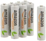 AmazonBasics AAA Rechargeable Batteries  (8-Pack) Pre-charged $10.49