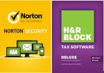 Symantec Norton Security (Download) + H&R BLOCK 2014 (Deluxe + State) $50