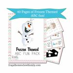 Frozen-Themed ABC + Math Pack (Downloadable Files) Free