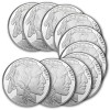 Lot of 10 1-oz Silver Buffalo Round $228