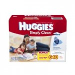 648 count Huggies Simply Clean Fragrance Free Baby Wipes Refill $10.37