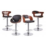 Baxton Studio Walnut and Black Modern Barstools from $90 - $110