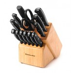 KitchenAid 14-pc. Stamped Triple Riveted Cutlery Set $30