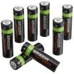 8-Pack AmazonBasics AA NiMH Precharged Rechargeable Batteries $11