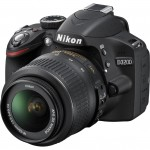 Nikon D3200 Digital SLR Camera w/ 18-55mm VR Lens (Refurbished) with Adobe Lightroom 5 $330