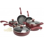 New Paula Deen 15-Piece Kitchen Porcelain Cookware Set Nonstick Pots Pans $60