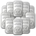 Lot of 10 1-oz APMEX Silver Bar $229