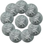 Lot of 10 2014 1 Troy Oz .999 Fine Silver American Eagle Coins $226
