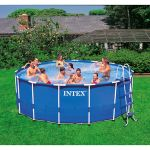 "Intex 15' x 48"" Metal Frame Swimming Pool $179"