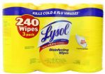 3-Pack Lysol Disinfecting Wipes Lemon & Lime Scent (80-count each) $7.97