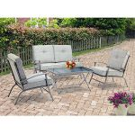 Mainstays Zahara 4-Piece Folding Patio Conversation Set, Seats 4 $149