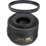 Nikon AF-S Nikkor 35mm f/1.8G DX Wide Angle Lens + UV Filter $160