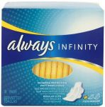 72 Count Always Infinity Unscented Pads with Wings, Regular Flow $12 and more