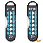2-Pack Lexar 32GB JumpDrive TwistTurn USB Flash Drive - Black Argyle $20