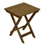 Garden Treasures 15.25-in x 17-in Natural Wood Rectangle Patio Side Table $6.75