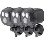 BuyDig - 3-Pack Mr. Beams (MB390) 300-Lumen Wireless LED Spotlight w/ Motion Sensor $53