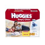 Huggies Simply Clean Baby Wipes, Refill, 648 Count $9.37