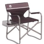 Coleman Portable Deck Chair with Side Table $30