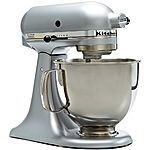 4.5QT KitchenAid Stand Mixer (Silver, Red or Black) $159