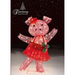 Trimming Traditions Outdoor Christmas Icy Dancing Pig $30 (was $100)