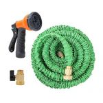 75 Ft Expandable Garden Hose with Free Spray Nozzle + Rust-free Xhose Holder $40