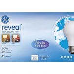 8-pk GE reveal 60 Watt A19 Incandescent Light Bulb $2