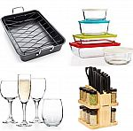 Macys - Roaster & Rack $10, 12-pc Wine Set $10, Farberware 30-pc Cutlery Set $30 + Free shipping