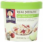 Quaker Real Medleys Apple Walnut, 2.46 Ounce Cups (Pack of 12) $13.27