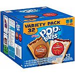 Pop Tarts Variety Pack: 32-Ct Strawberry and Brown Sugar Cinnamon $6.33 or less