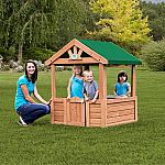Backyard Discovery Cozy Wooden Playhouse $75