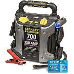 Stanley FatMax 700-Amp Peak Jump Starter with Compressor & Bonus Road-Side Service $40