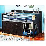 Charleston Storage Loft Bed with Desk for Kids $249