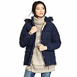 Ralph Lauren Women's Detachable-Hood Down Jacket $80 Shipped