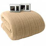 Biddeford Plush Heated Electric Blanket $50 + $10 Kohl's cash