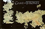 "Game of Thrones 36""x24"" Horizontal Map Poster $2 + Free Shipping"