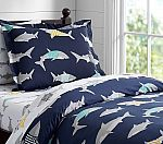 Preppy Breton Shark Duvet Cover, Twin $28.69 @Pottery Barn Kids