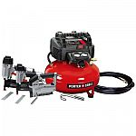 Porter-Cable 6Gal Portable Air Compressor Combo Kit $199 and more