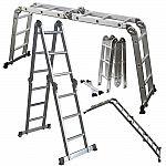 12.5 ft Multi Purpose Scaffold Ladder Heavy Duty Giant Aluminum Fold Step Extend $60