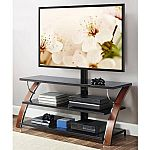"""Whalen Brown Cherry 3-in-1 Flat Panel TV Stand for TVs up to 65""""  $119 and more"""