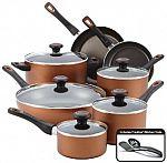 Farberware 14-pc. Nonstick Cookware Set + $15 Kohls Credit for $26